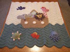 Noahs Ark Blanket Going to make for neice Deanna, until I found out she has a tree theme w/animals. I'll look around here for a good pattern