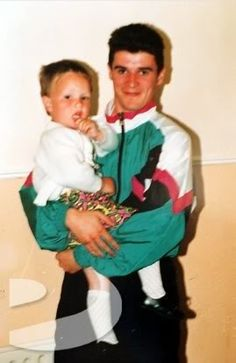 Roy with a young friend, visiting Cork, while playing for Nottingham Forest, about 1991 or Roy Keane, Cork City, Nottingham Forest, Professional Football, Working Class, School Boy, Free Photos, Coaching, Photo Galleries