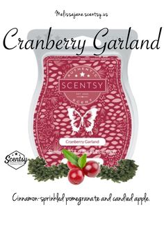 Scentsy 2016 | Cranberry Garland | New release | Fall & Winter | #scentsy…