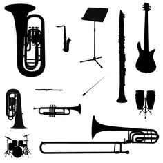 Download Vector Instruments silhouettes