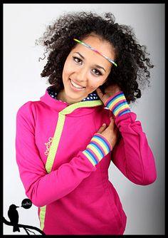 "MEKO Hoodie ""HIFI_B01"" hot pink fuchsia sweater hoodie jumper trui roze  www.dawanda.de"