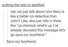 Yes. Exactly. Mary knows what kind of marriage she will have now that Sherlock's not dead. She knows. She has to.