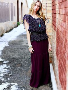 Maxi Skirt Tutorial from Sew Much Ado