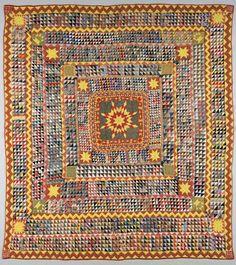 Competition Quilt, Lancaster County, Pennsylvania, late 1800s. Denver Art Museum