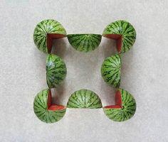 SAKIR GÖKÇEBAG PLAYS GEOMETRY WITH FRUITS AND VEGETABLE