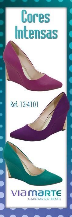 Sapato #viamarte Inverno 2013   #anabela #winter2013 #colors #fashion