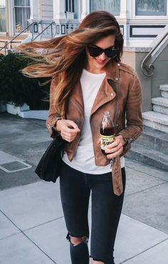 suede moto + ripped jeans #blanknyc
