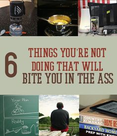 DON'T do these 6 things if you want to survive well! GOOD INFO!!
