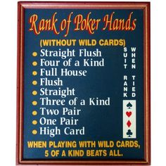 straight flush beats 4 of a kind cribbage board