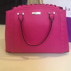 Kate Spade Hot Pink Scallop bag Authentic Kate Spade brand new hot pink bag.. Perfect pop of color for spring! Any questions just ask!  Also available in electric blue by request!  kate spade Bags Shoulder Bags