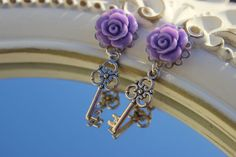 Hey, I found this really awesome Etsy listing at https://www.etsy.com/listing/211422055/flower-earrings-key-earrings-charm