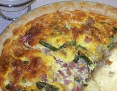 Hickery Holler Farm: Ham,Asparagus and Vidalia Quiche