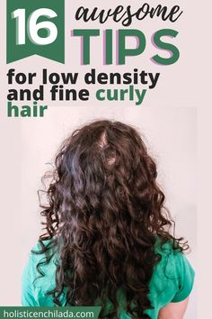 16 awesome tips for low density and fine curly hair