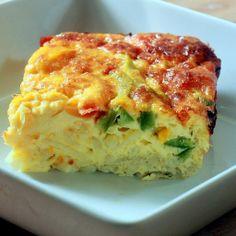 egg and potato breakfast casserole | Fiesta Breakfast Casserole