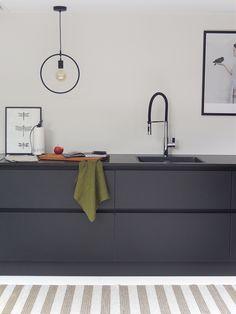 All black matte keuken.