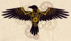 Clockwork Magic - Raven | Urban Threads: Unique and Awesome Embroidery Designs