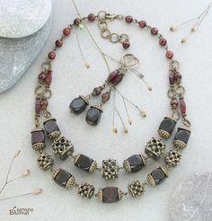 Коллекция украшений из обсидиана и янтаря - Ярмарка Мастеров - ручная работа, handmade