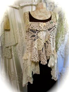 Shabby Doily Top gorgeous romantic vintage by TatteredDelicates