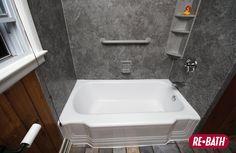 Shower And Tub Bathroom Shelving #ReBath #Bathroom #Remodeling