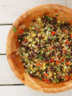 Freekeh with coriander and corn