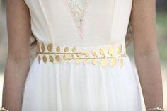 Olive Leaves Belt Large Gold Leaf Waist Belt by avigailadam Joie Shoes, Gold Belts, Wedding Belts, White Satin, Cosplay, Ball Dresses, Simple Dresses, Bridal Accessories, My Wardrobe