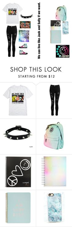"""""""blink 182 set"""" by emobandmeme ❤ liked on Polyvore featuring Converse, Blink, Peace Love World, ban.do and Casetify"""