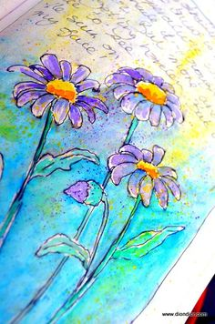 Dion Dior watercolour art journal, this would make a beautiful tattoo.