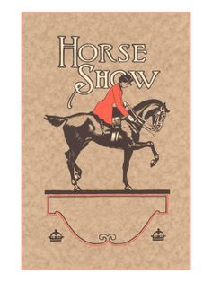 Horse Show Poster (no date)