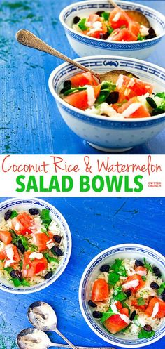 Coconut cream, jasmine rice, and watermelon raisin salad. This is one amazing bowl of nourishment! Light, refreshing, gluten free, and delicious!
