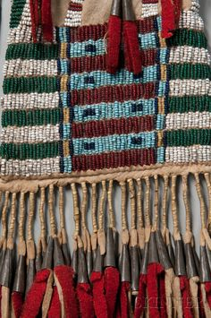 Southern Cheyenne Beaded Hide Pipe Bag   Sale Number 2745B, Lot Number 139   Skinner Auctioneers