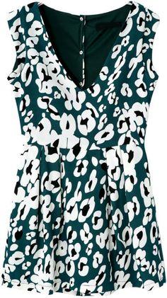 Green V Neck Sleeveless Floral Jumpsuit 20.83