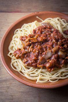 Spaghetti bolo véganes aux PST