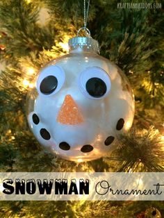 Make this snowman ornament with just a few supplies! A great Christmas craft for kids of all ages! They'll love stuffing the ornament!
