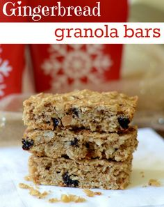 Gingerbread granola bar recipe, great snack for the Christmas holiday season | Real Food Real Deals