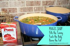 In which I am no longer Obese; and a recipe for Magic Soup
