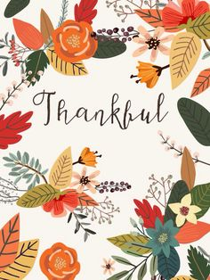 thankful illustration by Mia Charro Thanksgiving Wishes, Thanksgiving Decorations, Thanksgiving Prints, Thanksgiving Drawings, Thanksgiving Wallpaper, Thanksgiving Background, Chalkboard Art, Collage, Give Thanks