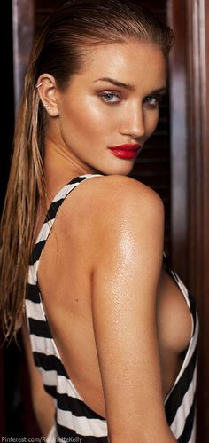 Candice Swanepoel | Black and White Stripes