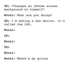 We're never going to forget the guitar incident... #Woozi #HeWillMurderYouInYourSleep