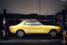 Toyota Celica-I had a 1973 ST that was this exact color with a 4-spd trans. and a dark brown interior. Only problem, no AC.