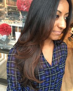 Black to brown subtle ombre