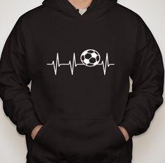 Soccer Heartbeat HOODY.  Choose by DesignsbyJackelyn