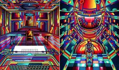 Colored Illustrations Tribute to Stanley Kubrick – Fubiz™