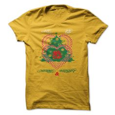 Christmas Two Heart Bell And Tree Christmas all is merry and bright T-Shirts…