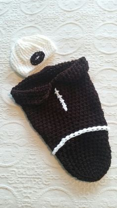 Football baby sack with matching hat!