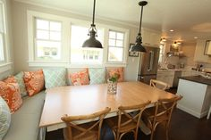 Wish I had chosen those chairs for our breakfast table.  They're simple, but keep the feeling light.