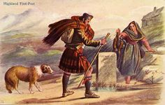 McIan's 'Highland Series' Postcard  -  Highland Free-Post
