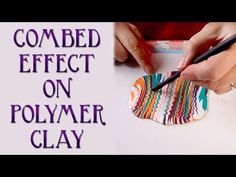 How To Make A Combed (Feathered, Marbled) Polymer Clay Veneer. A simple tutorial for making an effect on polymer clay that you might call combed, feathered. or (in the case of paper) marbled. Polymer Clay Kunst, Polymer Clay Canes, Polymer Clay Pendant, Polymer Clay Projects, Polymer Clay Creations, Polymer Clay Earrings, Clay Crafts, Video Fimo, Biscuit