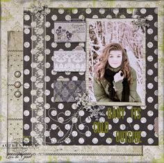 """""""Baby It's Cold Outside"""" Layout made by Authentique Paper DT Member Loes de Groot"""