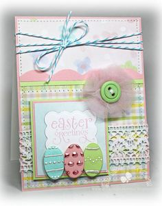 cute easter card... but I like the layout for any general card.