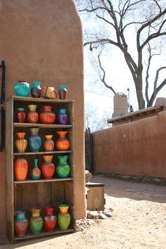 Recycled vases I hand-painted, Santa Fe, New Mexico